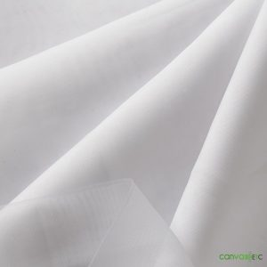 white sheer fabric