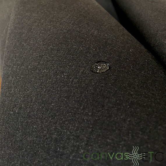 Waxed Canvas fabric Army Duck Charcoal