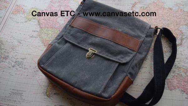 Waxed Canvas Messenger Bag DIY