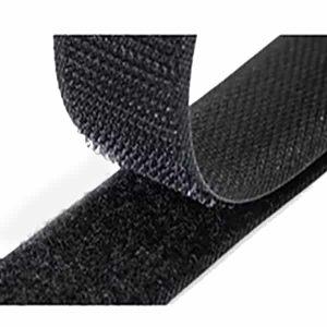 Hook and Loop Sew On Black