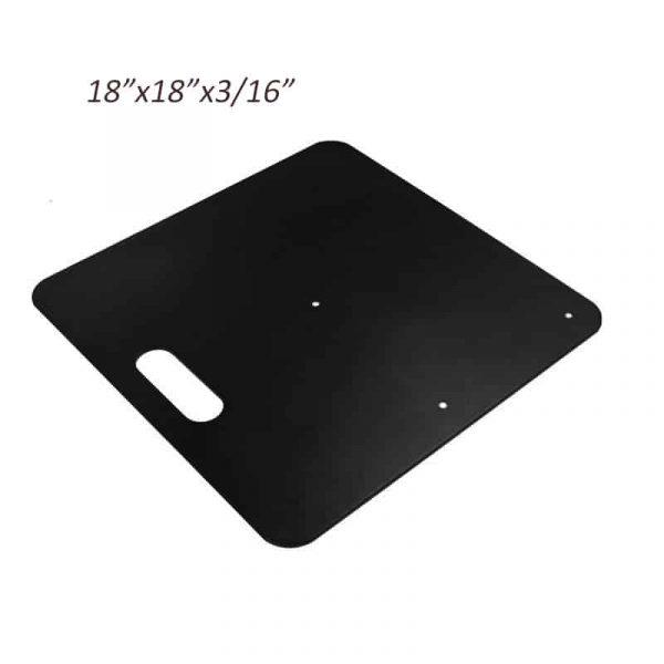 18x18 Black Powder Coated Steel Base Pipe and Drape