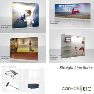 Trade Show Booth Straight Line Series Fabric Wall
