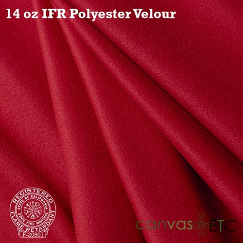 """IFR Velour 14 oz - 60""""   Red"""