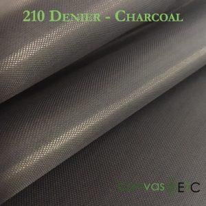 210 Denier Charcoal