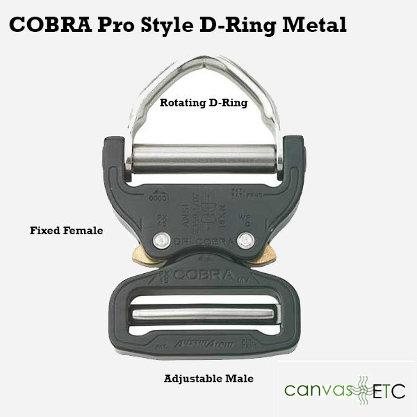 Cobra D Ring Pro Style Black