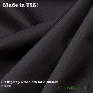 Ripstop Gridcloth FR - Black