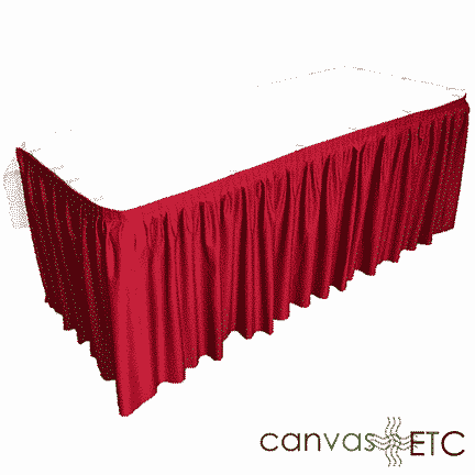 Table Skirting Expo pleat 5