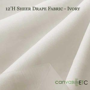 12'H Sheer Drape Fabric Ivory