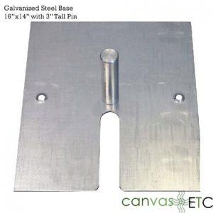 16x14 steel base