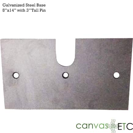 8x14 steel base