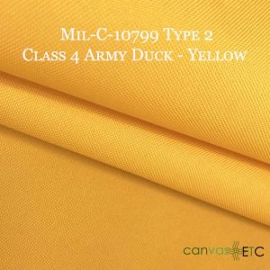 MIL-C-10799 TYPE 2 CLASS 4 Army Duck Yellow 30″ Width