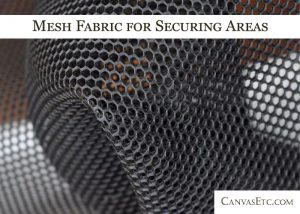 Mesh fabric for securing areas