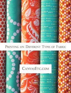 Printing on Different Types of Fabric