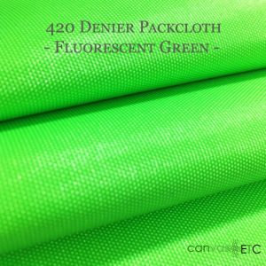 420 Denier Packcloth Fluorescent Green