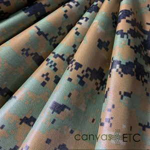 Nylon Packcloth Woodland Digital Camo