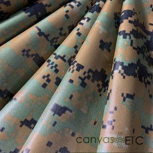Nylon Packcloth Woodland Digital Camo