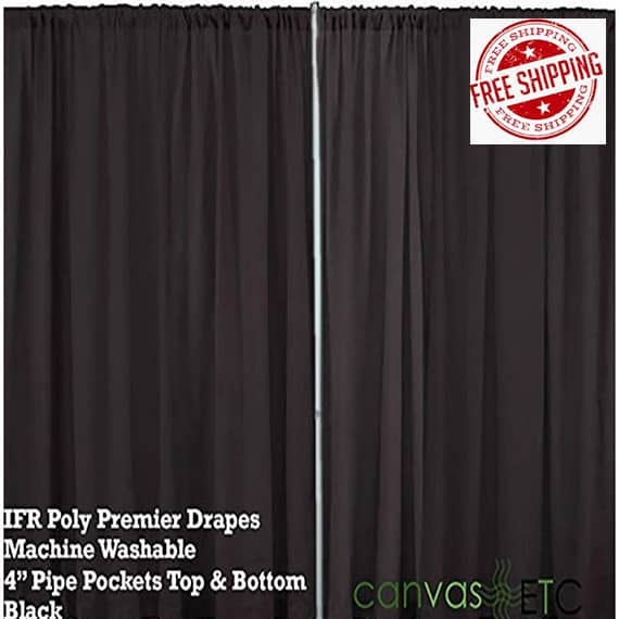 10x10 pipe and drape backdrop kit with uprights