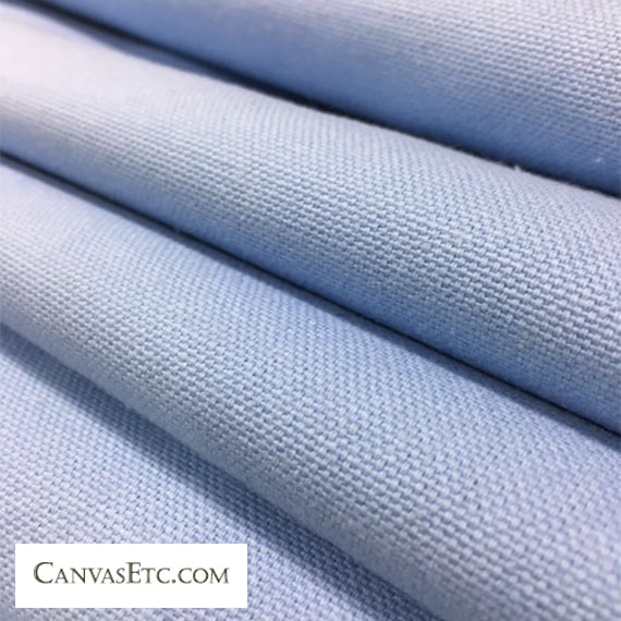 Baby Blue 10 ounce cotton duck