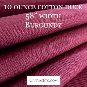Burgundy cotton duck