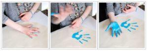 Hand printed DIY storage ottoman