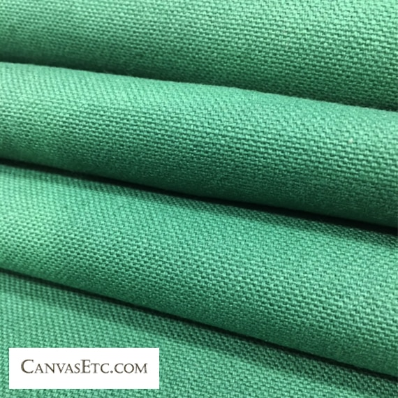 Hunter Green 10 ounce cotton duck fabric
