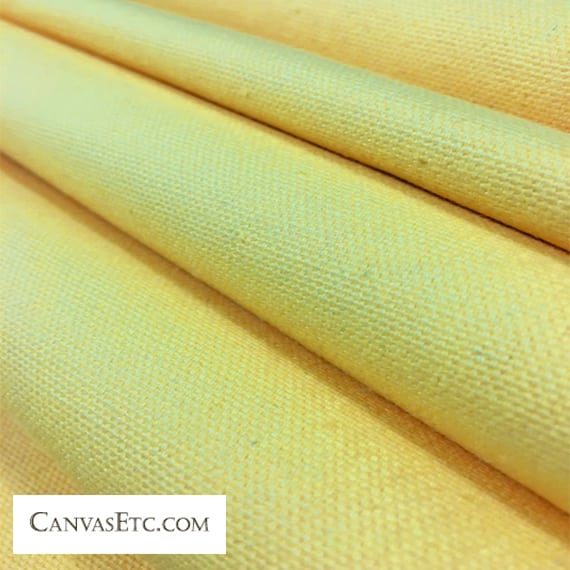 Lemon Yellow 10 ounce cotton duck fabric