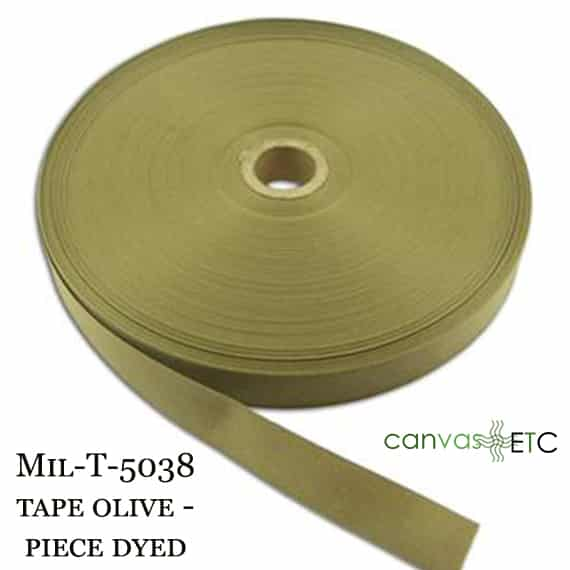 Mil-T-5038 Tape Olive Piece Dyed