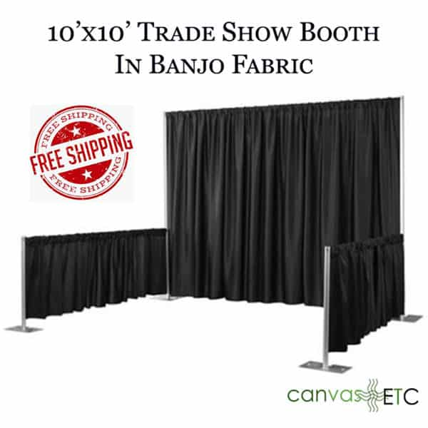 Trade show booth in Banjo Fabric