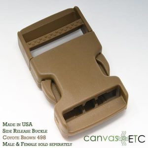 side release buckle coyote brown made in usa 15 inch
