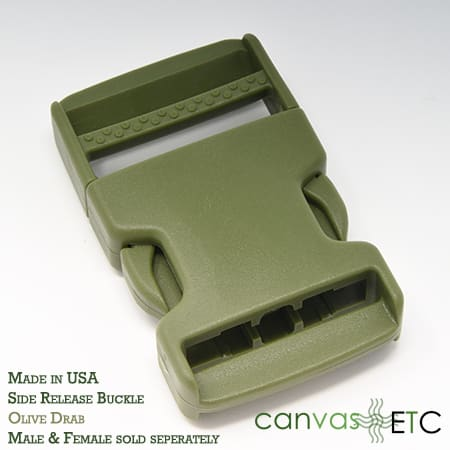 side release buckle olive green made in usa 15 inch