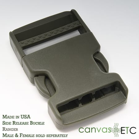 side release buckle ranger green made in usa 15 inch