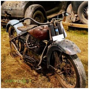 Rusted Motorbike from the weather