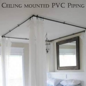 Ceiling mounted pvc piping