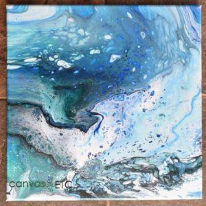 Acylic paint pour on canvas