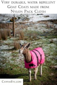 Goat coats made from Nylon Pack cloth
