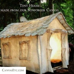 Tent house made from Sunforger canvas