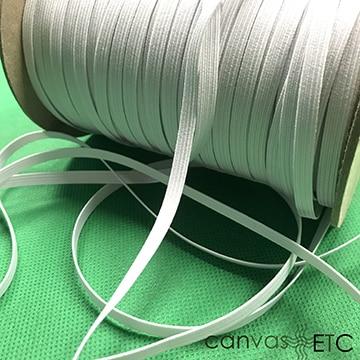 quarter inch elastic white