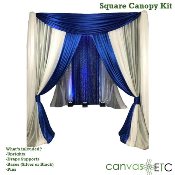 square canopy pipe and drape kit