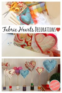 valentine's day crafts fabric canvas etc heart decorations