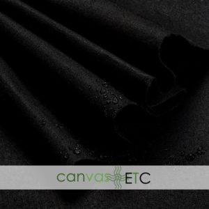 """Waxed Canvas - Shelter Tent Duck - Black 
